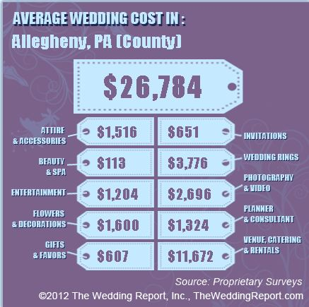 Average Wedding Cost In Pittsburgh Pa Allegheny County